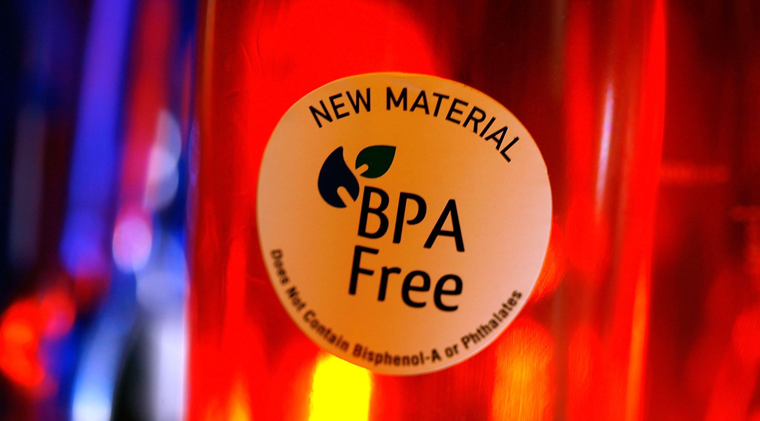 ARCADIA, CA - APRIL 16:  Camelback brand water bottles that are free of the controversial carbonate plastic bisphenol-a (BPA), one of the most widely used synthetic chemicals in industry, hang on display at an outdoor supply store on April 16, 2008 in Arcadia, California. National Institutes of Health?s National Toxicology Program has concluded that the estrogen-like chemical in the plastic, which is also used in many baby products, beverage and food containers, and as linings in food cans, could be harmful to the development of children's brains and reproductive organs, and Canada is reportedly about to declare health finding against BPA. Some makers of such bottles have recognized the concern, including Nalgene and Camelback, have begun producing BPA-free alternative containers.   (Photo by David McNew/Getty Images)
